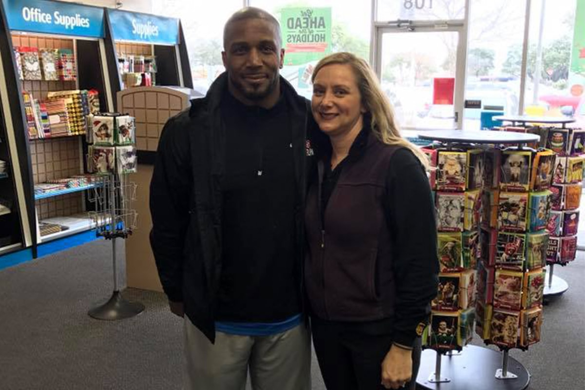 The UPS Store 3810 via Facebook | Priest Holmes Off the Field Images | Exclusive Media Content