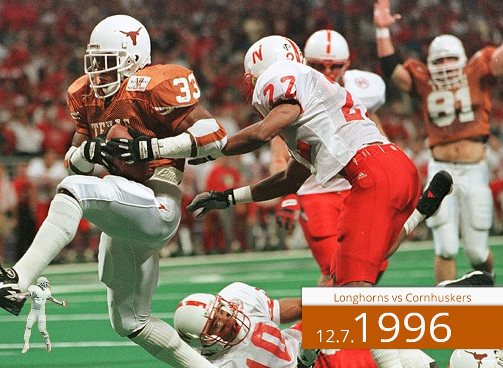 Longhorns vs Cornhuskers 1996 | On The Field | Priest Holmes Media | Priest Holmes Video