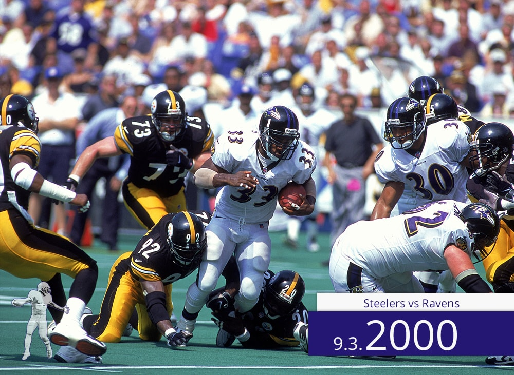 Steelers vs Ravens 2000 | On The Field | Priest Holmes Media | Priest Holmes Video