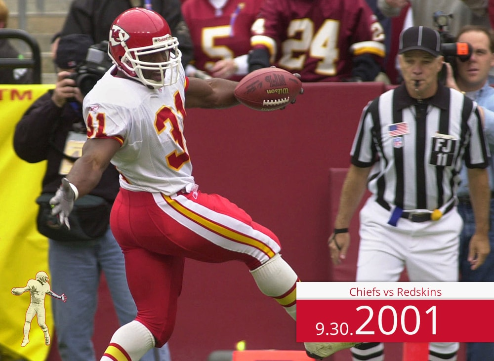Chiefs vs Redskins 2001 | On the Field | Priest Holmes Media | Priest Holmes Video