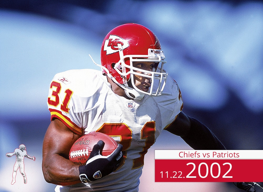 Chiefs vs Patriots 2002 | On the Field | Priest Holmes Media | Priest Holmes Video