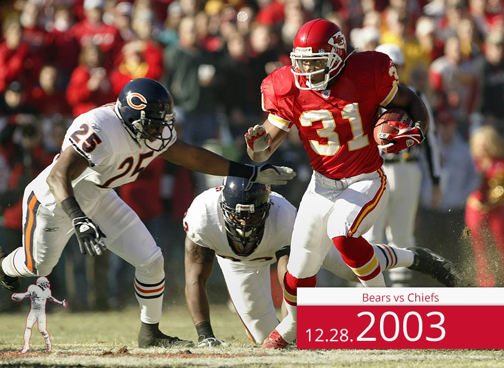 Bears vs Chiefs 2003| On the Field | Priest Holmes Media | Priest Holmes Video