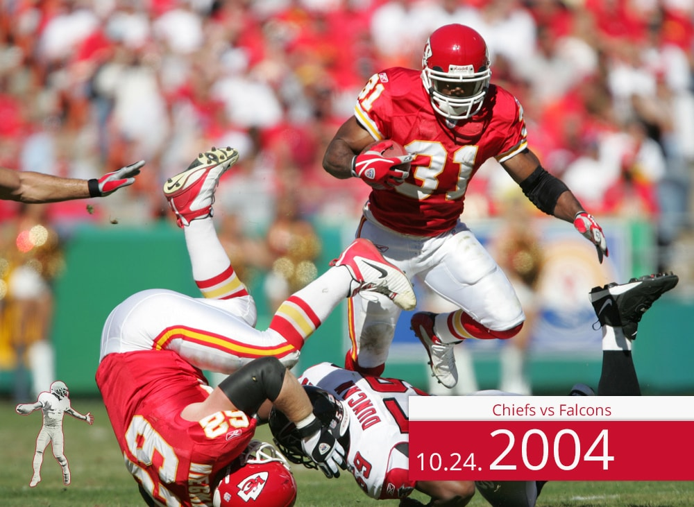 Chiefs vs Falcons 2004 | On the Field | Priest Holmes Media | Priest Holmes Video