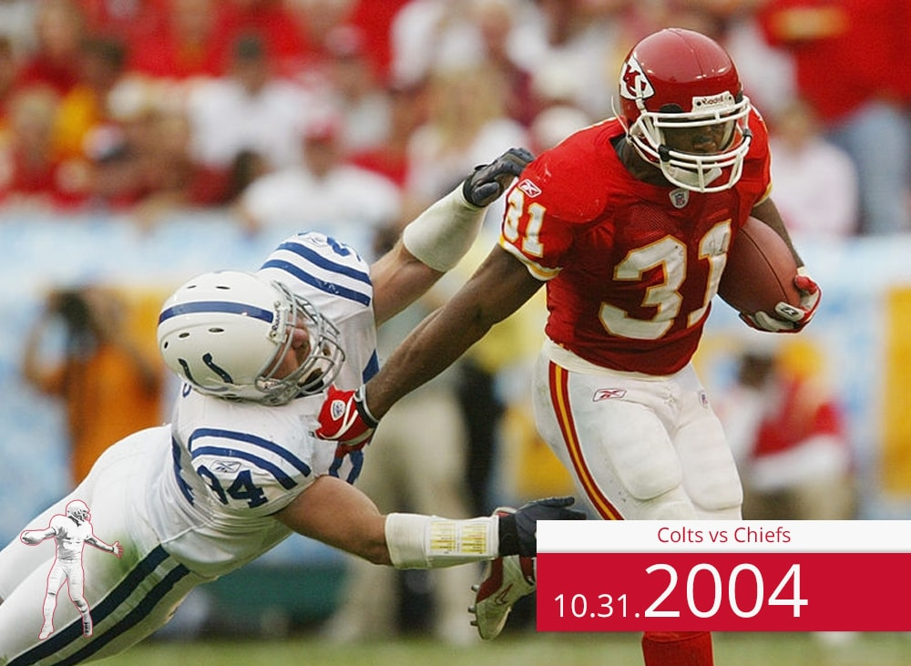 Colts vs Chiefs 2004 | On the Field | Priest Holmes Media | Priest Holmes Video