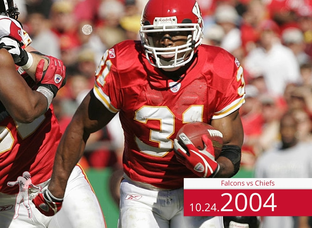 Falcons vs Chiefs 2004 | On the Field | Priest Holmes Media | Priest Holmes Video