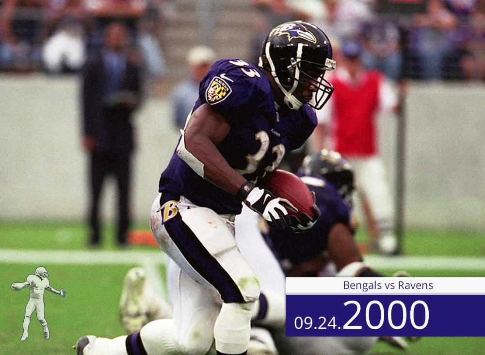 Bengals vs Ravens 2000 | On the Field | Priest Holmes Media | Priest Holmes Video