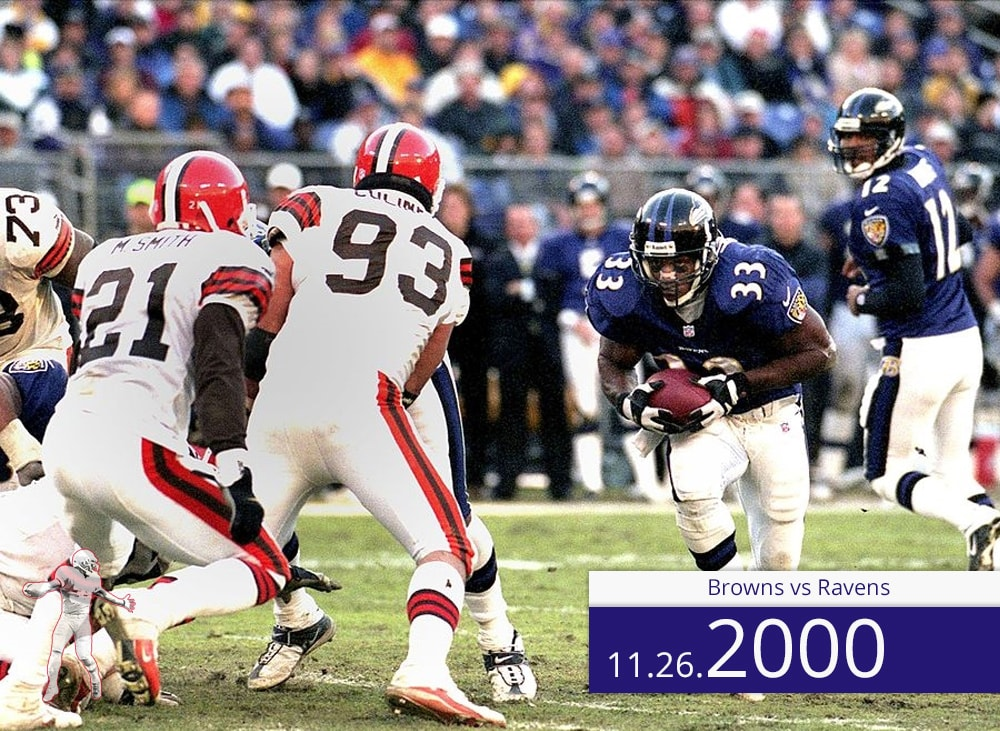 Browns vs Ravens 2000 | On the Field | Priest Holmes Media | Priest Holmes Video
