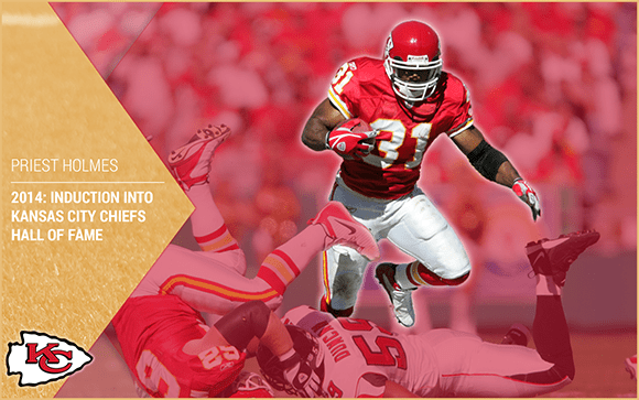 a7e75107423 Priest Holmes Hall of Fame Induction: 2014 Kansas City Chiefs Hall of Fame  | Priest