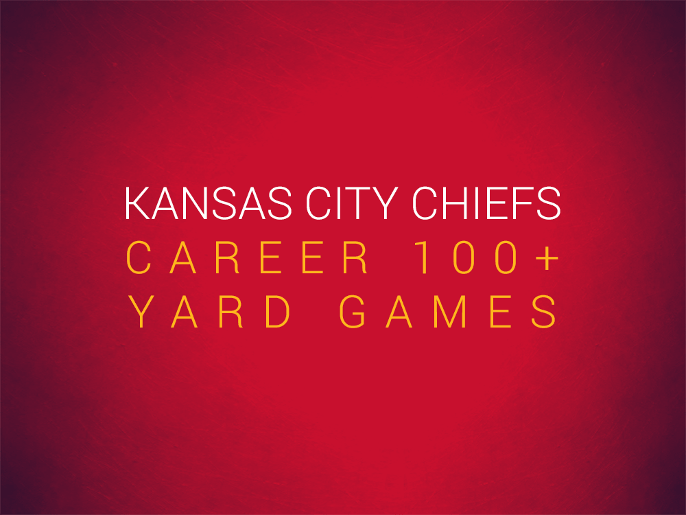 Priest Holmes Kansas City Chiefs Records: Career 100+ Yard Games | Priest Holmes Records | The Numbers | Kansas City Chiefs Records