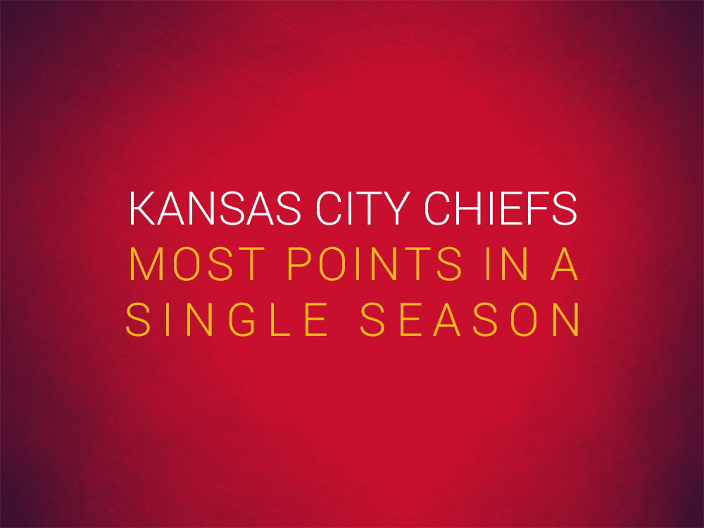 Priest Holmes Kansas City Chiefs Records: Most Points in a Single Season | Priest Holmes Records | The Numbers | Kansas City Chiefs Records