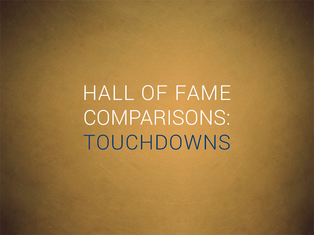 Priest Holmes Hall of Fame Comparison: Touchdowns | Priest Holmes Records | The Numbers | Hall of Comparisons