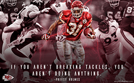 Breaking Tackles Wallpaper | Priest Holmes Media | Priest Holmes Wallpapers